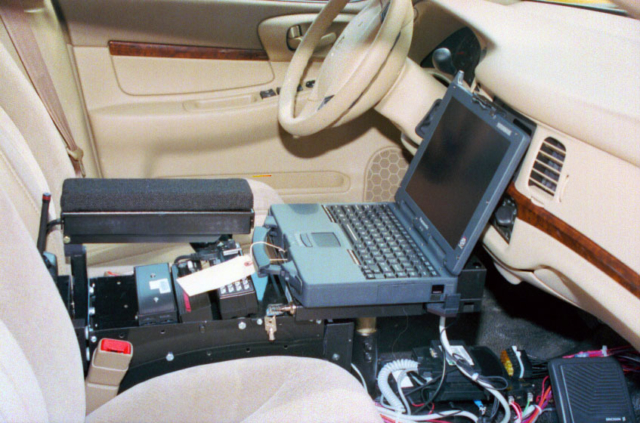 Computer in patrol car.
