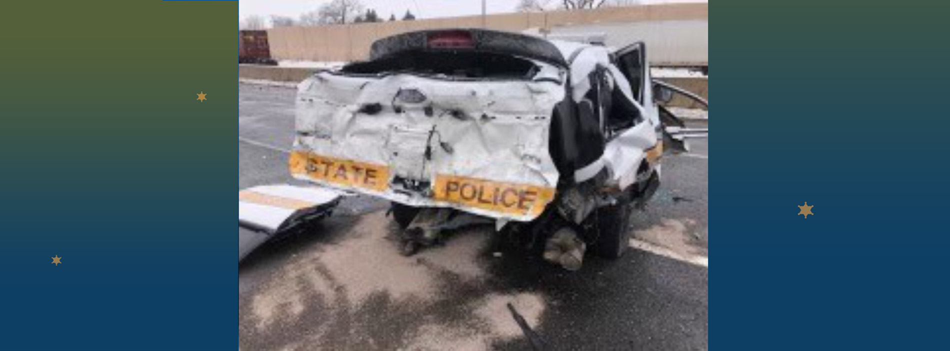 Illinois State Police - trooper injured in accident - donate to help.
