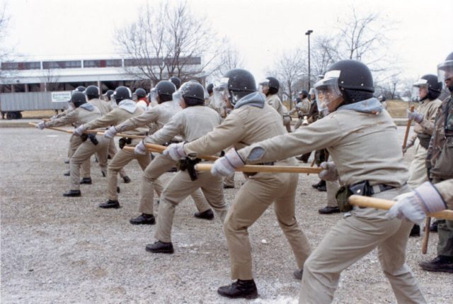 Crowd control training 1980s
