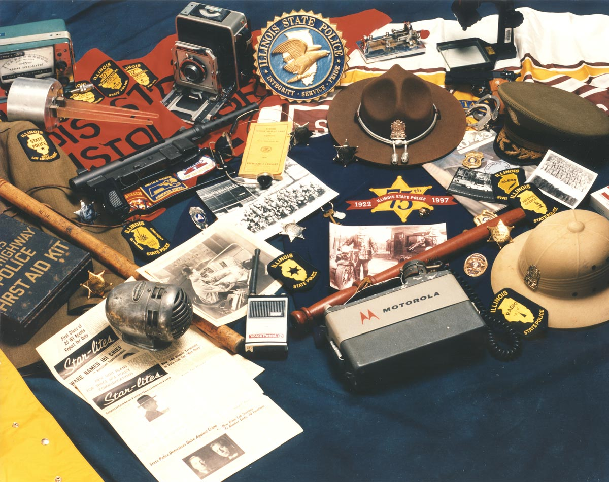 Variety of equipment used by ISP personnel