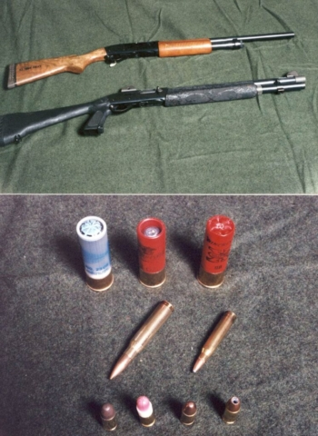 From top to bottom, Remington 870 (12GA) & Remington 1100 (12GA) with a pistol grip stock