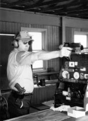 Test firing a service weapon