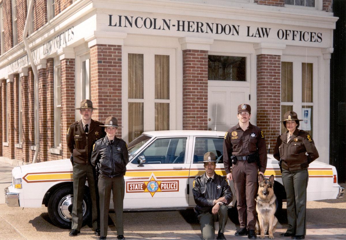Various working uniforms circa 1987