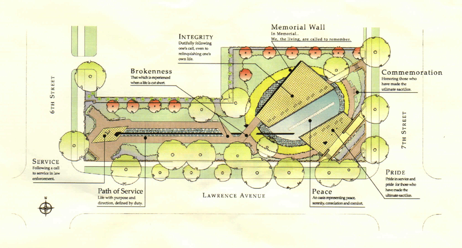 Illinois State Police Memorial Park Plan