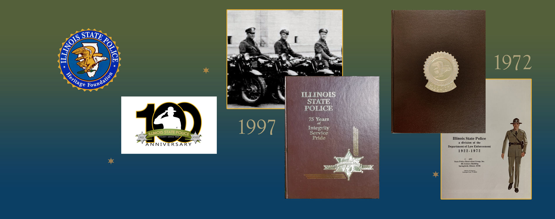 Illinois State Police Agency History, including yearbook content since 1922.