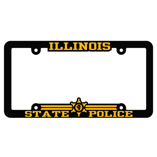 Illinois State Police license plate cover - available in the ISPHF Gift Shop!